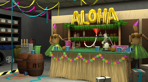 Kreiger's Lab in the Fourth-of-Juluau Event