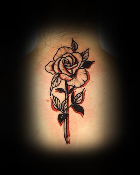 Rose on back!
