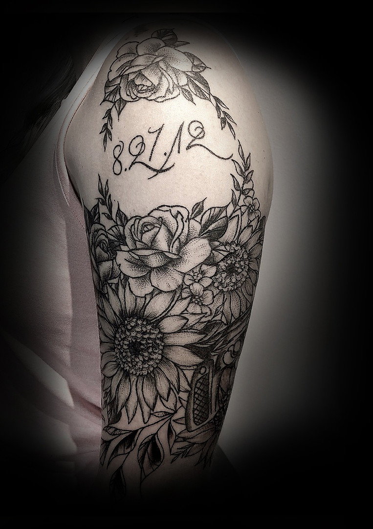 Sunflowers n' roses on Sammie 18'