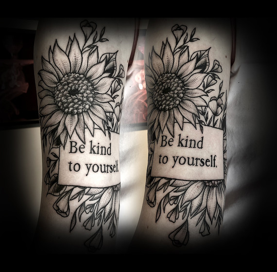 """""""Be kind to yourself"""" on Kelby 18'"""