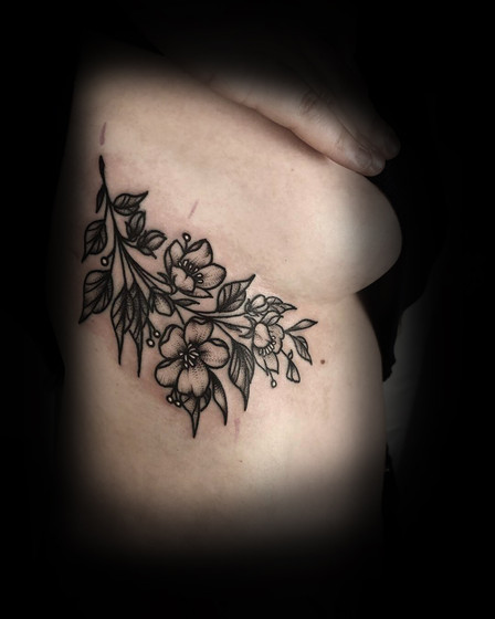 Florals on ribs