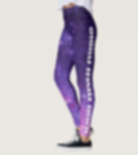 Flight Fitness Studio logo galaxy print leggings