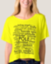 Pole Moves Names t-shirt crop tee