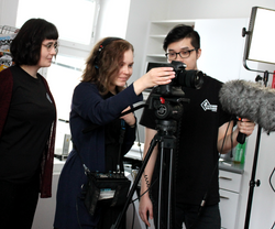 Shooting the Kickstarter video.