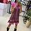 Thumbnail: Vestido curto linho estampado