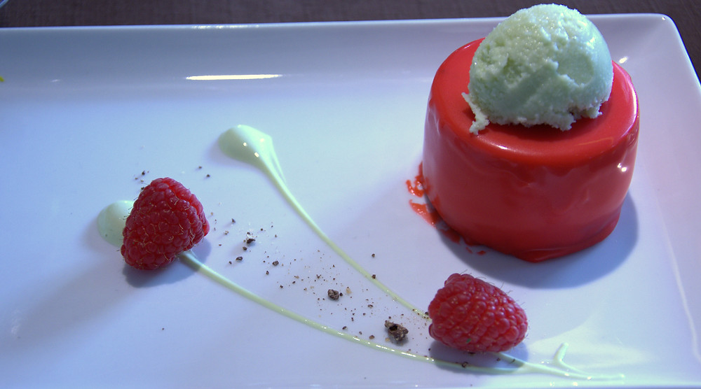 Cheese cake fruit rouge et pamplemousse