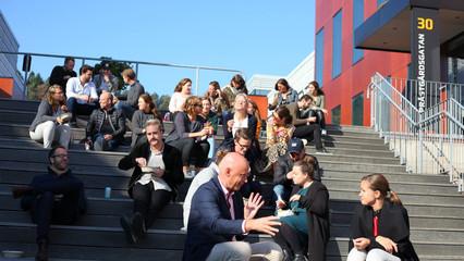 Pedagogen Parks företagsområde överraskar konferensgästerna med en Taco-lunch