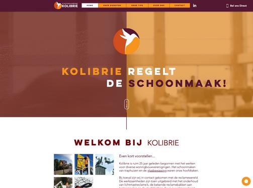 Website schoonmaakbedrijf Kolibrie