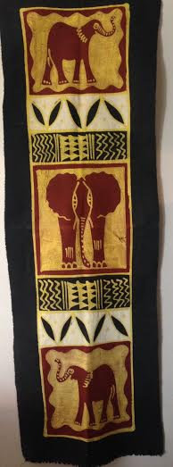 African table runners/Wall hangings - 3 Elephants