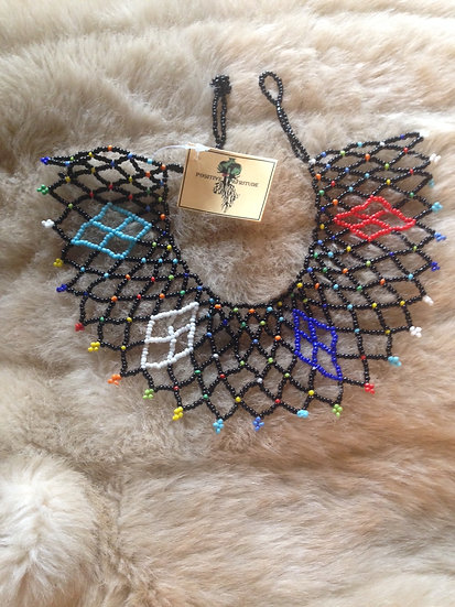Statement collar necklace (Zulu colours)