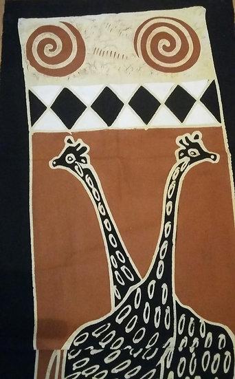 African table runners/Wall hangings - Giraffes (B)