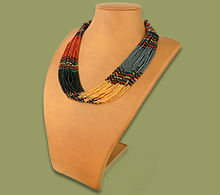 Beaded Multi-Layer Necklace (Brown/Blk/Gold/Metal)