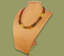 Beaded Mvovo necklace (Gold/Brown/Black)