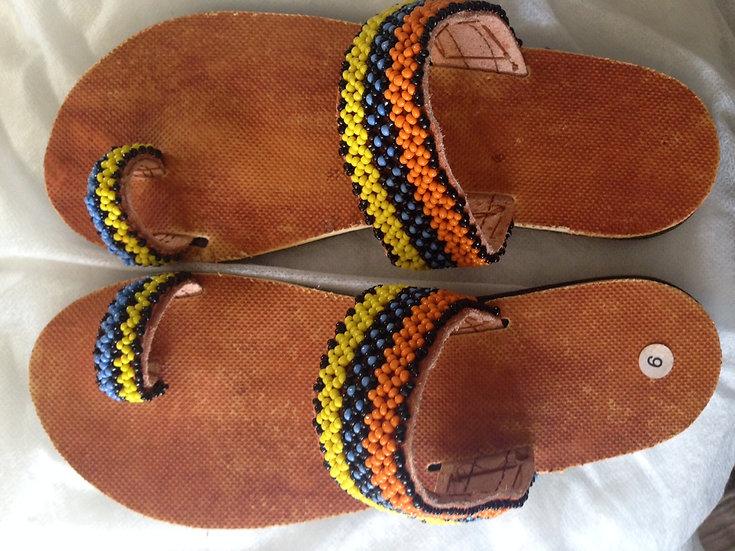 Beaded summer sandals