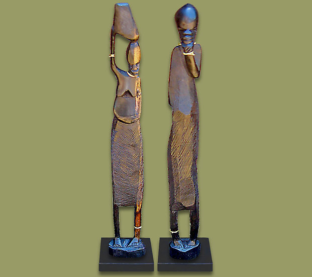 Wooden African statues