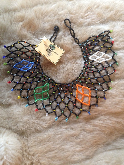 Statement collar necklace (Zulu colours)