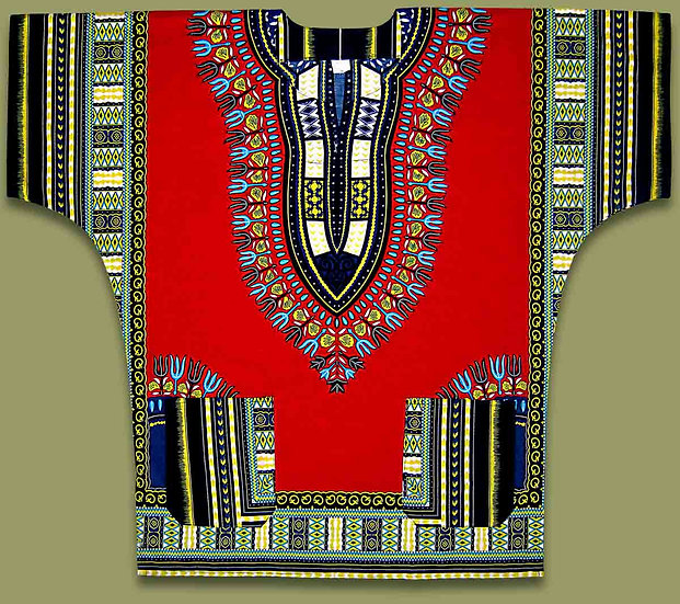 African shirt (Red)