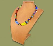 Beaded Mvovo necklace (Zulu colours)