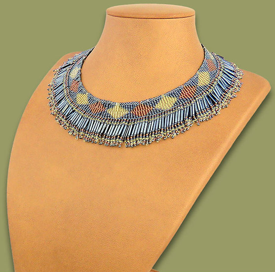 Beaded Thandi collar necklace