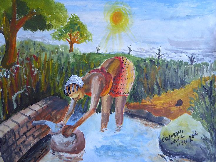 "Daniel Comboni - ""Woman & water"" [PRINT]"