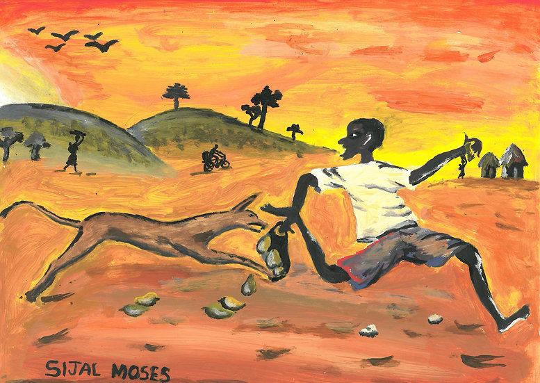 "Moses Sijal - ""The chase"" [PRINT]"