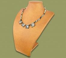 African (cow) bone necklace (Batik)