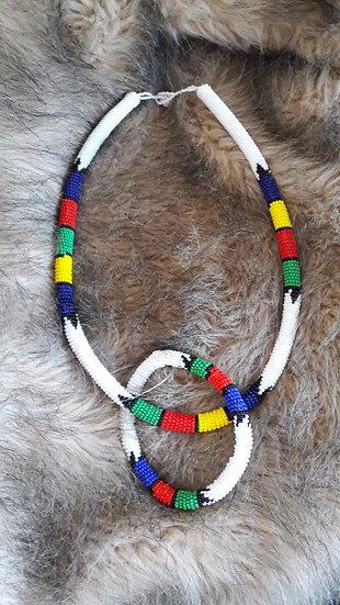 Necklace & Bracelet in Zulu colours