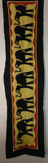 African table runners/Wall hangings - 6 Elephants