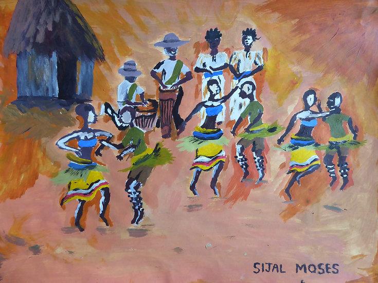 """Moses Sijal - """"Kiganda dance!"""" [PRINT]"""