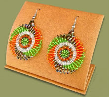 Beaded circles (Green/Orange/Metallic)