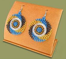 Beaded circles (Blue/Black/Gold)