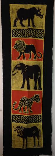 African table runners/Wall hangings - Big 5