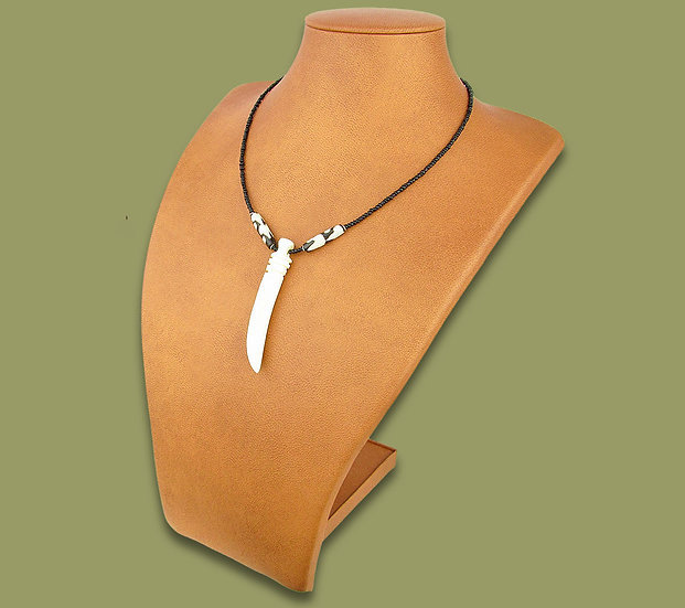 African (cow) bone necklace (White tusk)