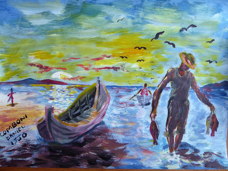 "Daniel Comboni - ""Fisherman"" [PRINT]"