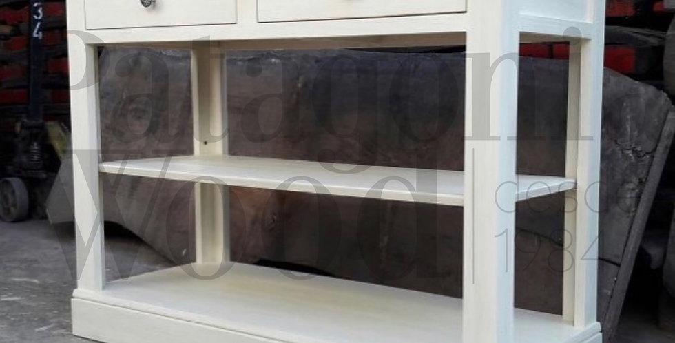 Consola 2 cajones y 1 estante