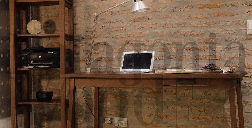 Escritorio solapa, 1 cajón y 1 puerto cargador USB
