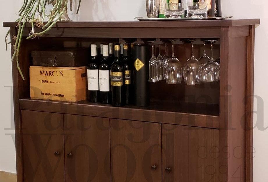 Mueble bar 4 puertas con copero