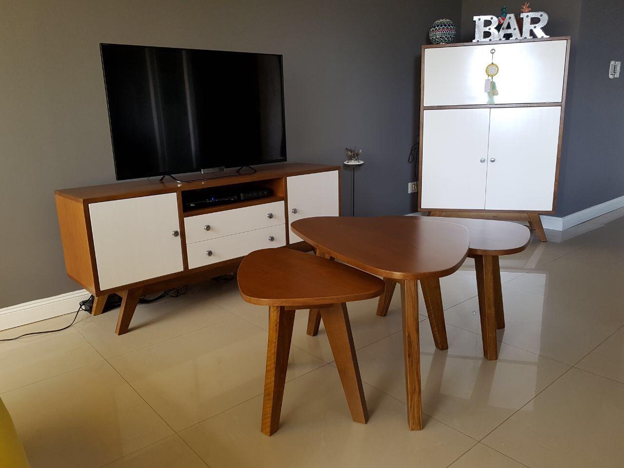 Mueble TV y Mesa de Frente Vintage P