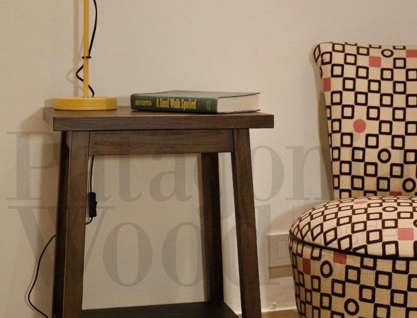 Mesa auxiliar / costado sillón 1 estante