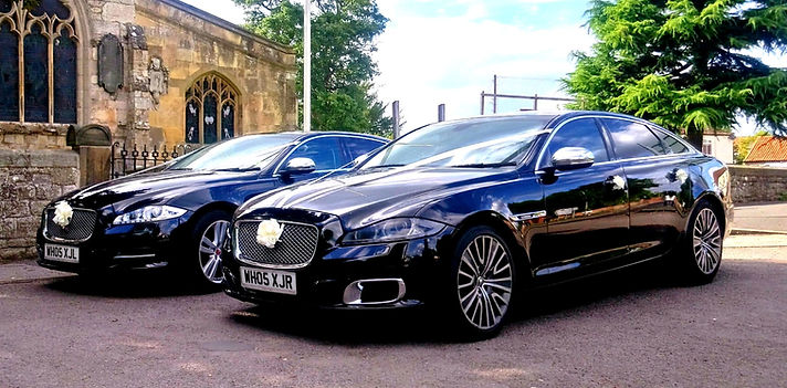 Wedding car services in Barnsley. Pair of matching Ja