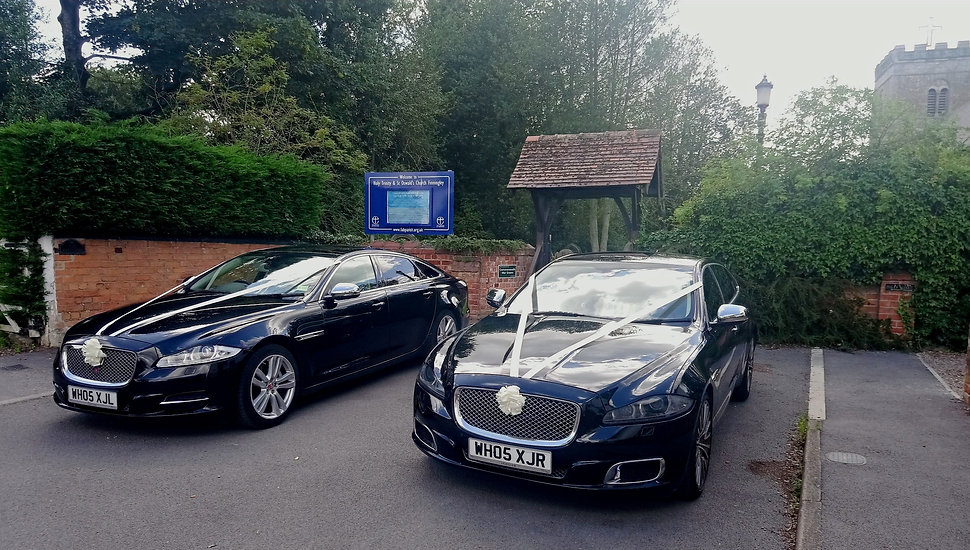Jaguar matching pair of Wedding cars in Sheffield