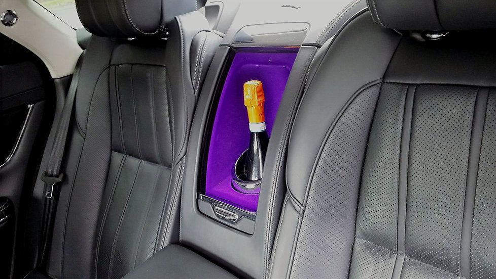 Wedding car champagne holder Jaguar XJR
