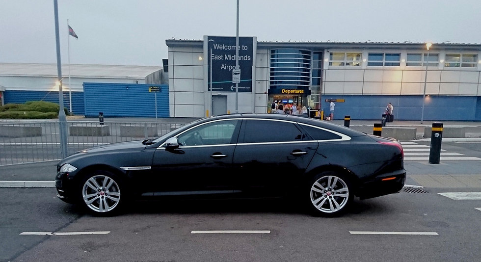 Executive chauffeurs to East Midlands airport