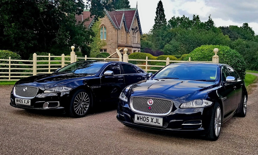 Chauffeur driven Jaguar airport transfer services