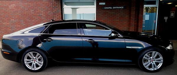 Jaguar funeral car service in Doncaster