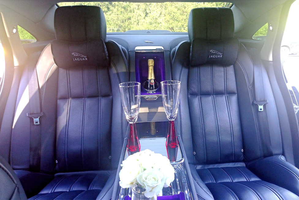 Luxury Jaguar Ultimate wedding car hire in Doncaster