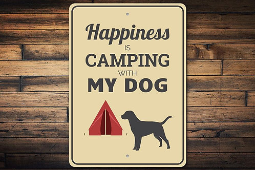 Camping with My Dog Sign