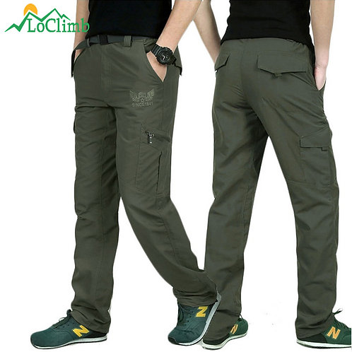 Men's Outdoor Hiking Pants Men Summer Mountain Climbing Fishing Quick Dry