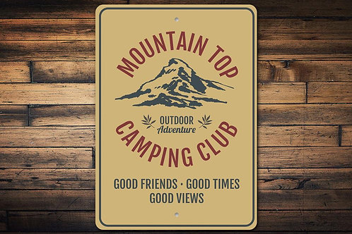 Mountain Top Camping Club Sign