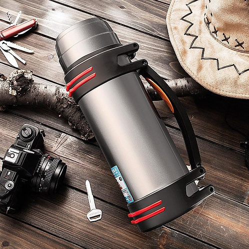 Efficient Insulation Thermos Travel Hiking Office Stainless Steel
